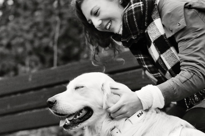 Leny s vodícím psem, foto Renata Hasilová